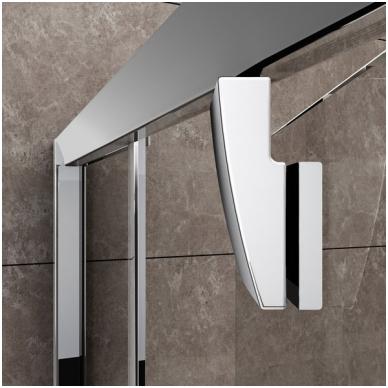 Ravak Pivot PSKK3 pusapvalė dušo kabina, varstomos durys, stiklas skaidrus 2