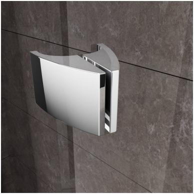 Ravak Pivot PSKK3 pusapvalė dušo kabina, varstomos durys, stiklas skaidrus 3