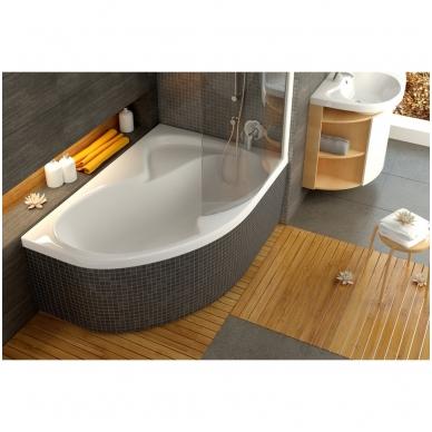 Ravak Rosa II akrilinė, asimetrinė vonia, balta