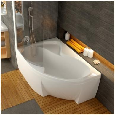 Ravak Rosa II akrilinė, asimetrinė vonia, balta 2