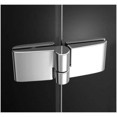 Ravak SmartLine pusapvalė dušo kabina, vyriai chromuoti, stiklas skaidrus 2