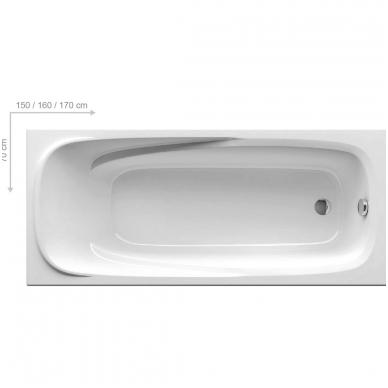 Ravak Vanda II akrilinė vonia, 150;160;170 x 70, balta 2
