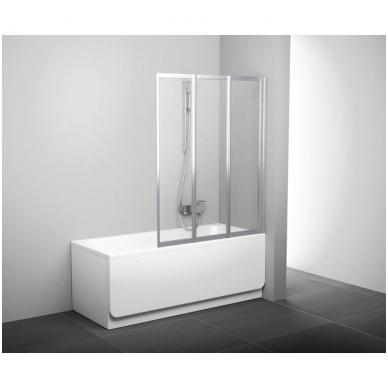 Ravak VS3 vonios sienelė, trijų dalių, 100cm, 115cm,130cm