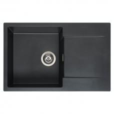 Reginox Amsterdam 78 akmens masės virtuvinė plautuvė 78 x 50 cm, juoda