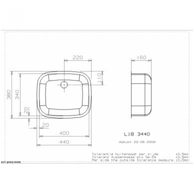 Reginox L18 3440 OKG virtuvinė plautuvė, 44 x 38 cm, nerūdijančio plieno 2