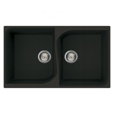 Reginox Monza 450 akmens masės dviguba virtuvinė plautuvė, 86 x 50
