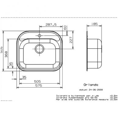 Reginox Orlando R virtuvinė plautuvė, 58 x 50, nerūdijančio plieno 2