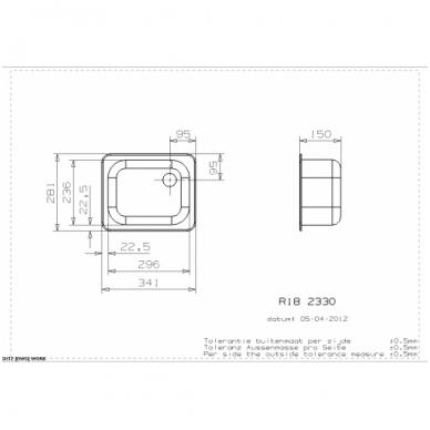 Reginox R18 2330 OSK virtuvinė plautuvė, 28 x 34cm, nerūdijačio plieno 2