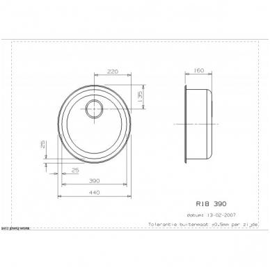 Reginox R18 390 OKG virtuvinė plautuvė, d - 44 cm, nerūdijančio plieno 2