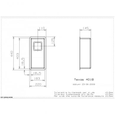 Reginox Texas L virtuvinė plautuvė, 22 x 44 cm, nerūdijančio plieno 2