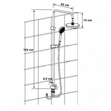 Sapho Kimura termostatinis maišytuvas su Mist dušo stovu, chromas 4