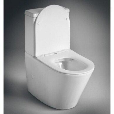 Sapho Paco Rimless pastatomas WC, su lėtai nusileidžiančiu Slim dangčiu 2