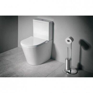 Sapho Paco Rimless pastatomas WC, su lėtai nusileidžiančiu Slim dangčiu 3