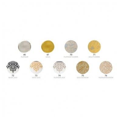 Scarabeo Glam pakabinamas praustuvas, 95 x 42, baltas 4