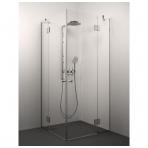 Stikla Serviss Angelina dušo kabina, blizgus profilis, skaidrus stiklas