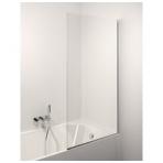 Stikla Serviss Noris stacionari vonios sienelė, stiklas skaidrus, profilis blizgus