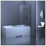 Stikla Serviss Franceska vonios sienelė, stikals skaidrus, profilis blizgus