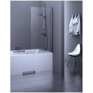 Stikla Serviss Estetico vonios sienelė, stiklas skaidrus, profilis blizgus