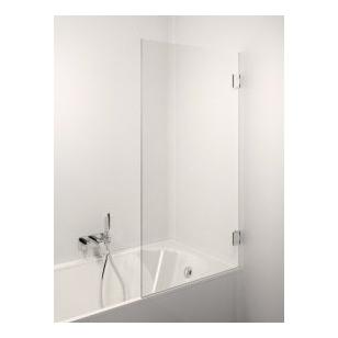 Stikla Serviss Fresco vonios sienelė, stiklas skaidrus, vyriai blizgūs
