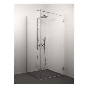 Stikla Serviss Giorgio dušo kabina, stiklas skaidrus, vyriai chromuoti