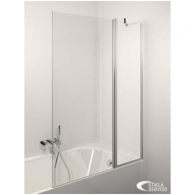 Stikla Serviss Estetico Plus vonios sienelė, stiklas skaidrus, profilis blizgus
