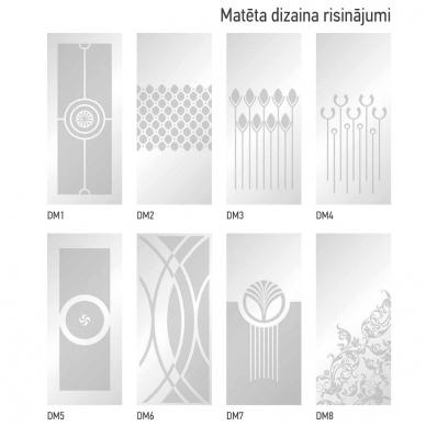 Stikla Serviss Fascino dušo kabina, profilis blizgus, stiklas skaidrus 5
