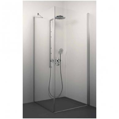 Stikla Serviss Fascino dušo kabina, profilis blizgus, stiklas skaidrus