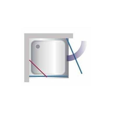 Stikla Serviss Fascino dušo kabina, profilis blizgus, stiklas skaidrus 2