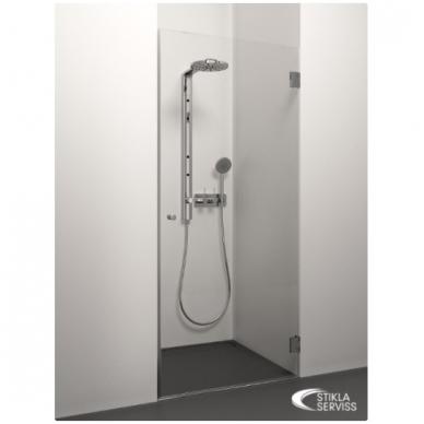 Stikla Serviss Prelude dušo durys, stiklas skaidrus, vyriai chromuoti