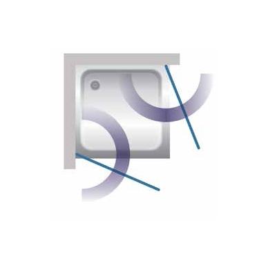 Stikla Serviss Sofia dušo kabina, profilis blizgus, stiklas skaidrus 2