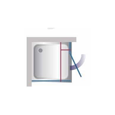 Stikla Serviss Veronica dušo kabina, profilis blizgus, stiklas skaidrus 2