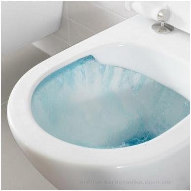 Villeroy & Boch Subway 2.0 pakabinamas WC su DirectFlush technologija, su SlimSeat lėtai nusileidžiančiu dangčiu, baltas 2
