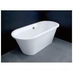 Vispool Accent akmens masės vonia su chromuotu sifonu, 167 x 71, balta