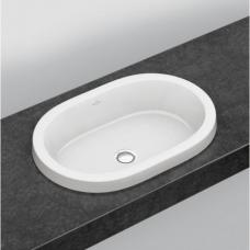 Villeroy&Boch Architectura įmontuojamas ovalus praustuvas, 61,5 x 41,5 cm, baltas