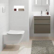 Villeroy&Boch Venticello  DirectFlush pakabinamas WC, 37,5 cm x 56 cm, su QR/lėtai nusileidžiančiu dangčiu 9M80S101, SupraFix, baltas su CP