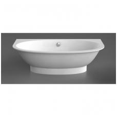 Vispool Gemma 2 akmens masės vonia, 195 x 101 cm, balta