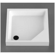 Vispool KD-90 akmens masės dušo padėklas, 90 x 90 cm, baltas