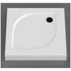 Vispool KK-100 akmens masės dušo padėklas, 100 x 100 cm, baltas