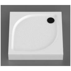Vispool KK-80 akmens masės dušo padėklas, 80 x 80 cm, baltas