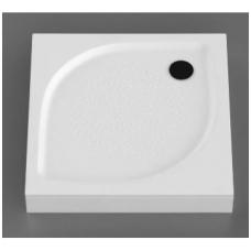 Vispool KK-90 akmens masės dušo padėklas, 90 x 90 cm, baltas