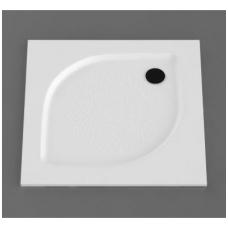Vispool KZ-100 akmens masės dušo padėklas, 100 x 100 cm, baltas