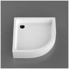 Vispool R-100 akmens masės dušo padėklas, 100 x 100 cm, baltas