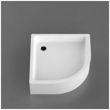 Vispool R-90 akmens masės dušo padėklas, 90 x 90 cm, baltas