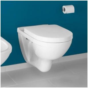 Villeroy & Boch O.Novo pakabinamas WC, su DirectFlush ir lėtai nusileidžiančiu dangčiu, baltas