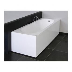 Vispool Libero akmens masės vonia, 170 x 80 cm,su sifonu, balta