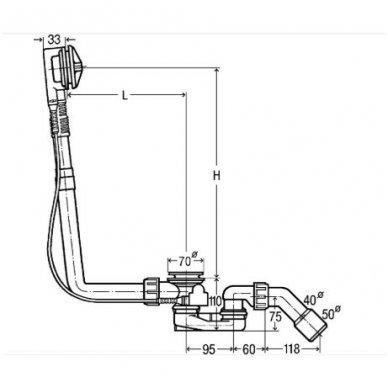 Viega Multiplex vonios sifonas, 40/50 2
