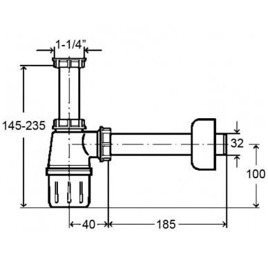 Viega sifonas praustuvui be ventilio, baltas 2