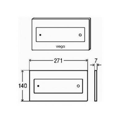 Viega Style 12 WC nuleidimo mygtukas, baltas 2