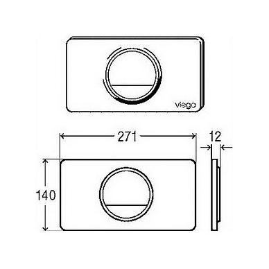 Viega Style 13 WC nuleidimo mygtukas, baltas 2