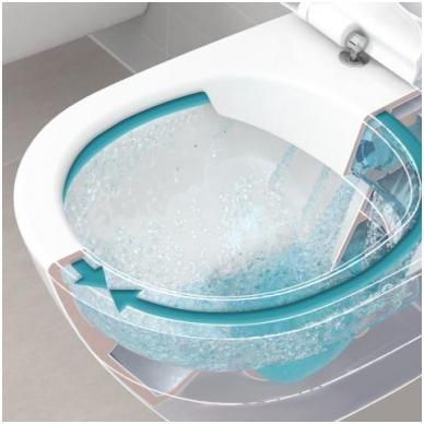 Villeroy & Boch O.Novo pakabinamas WC, su DirectFlush ir lėtai nusileidžiančiu dangčiu, baltas 2